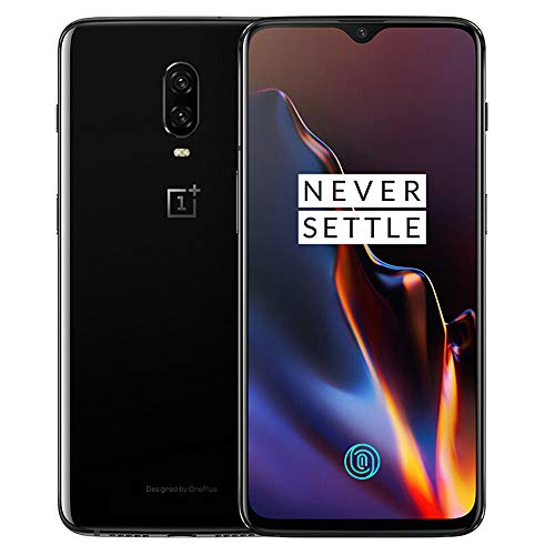 OnePlus 6T A6013 128 GB of storage + 8 GB of memory unlocked at the factory 6.41-inch AMOLED screen Android 9 - Mirror Black US Version