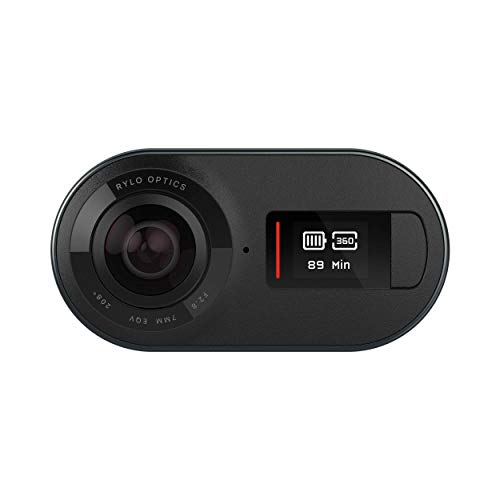 Rylo 5.8K 360 video camera - (iPhone + Android) - Innovative stabilization, includes 16GB SD card and cover for everyday use, black