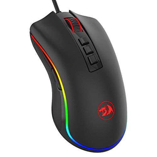 Redragon M711 Cobra Gaming Mouse with 16.8 million RGB backlit colors, 10,000 DPI adjustable, comfortable grip, 7 programmable buttons