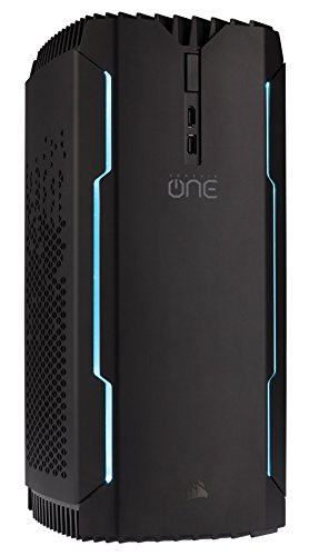 CORSAIR ONE compact gaming PC, Intel Core i7-7700 with liquid cooling, GTX 1070, 240 GB SSD, 1 TB HD, 16 GB HDD