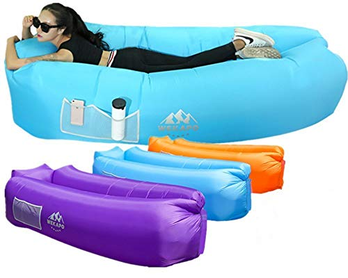 WEKAPO inflatable lounger air sofa - portable, waterproof and anti-leakage - ideal sofa for the lake side yard on the beach ...
