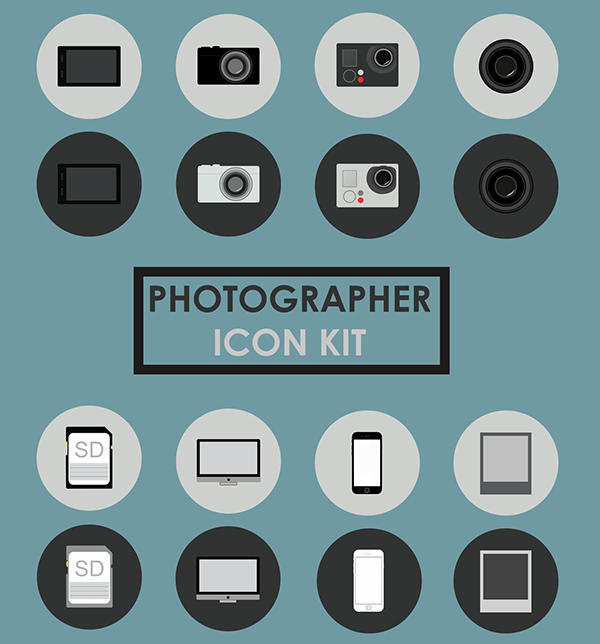 Free PSD Icon Kit for Photographers