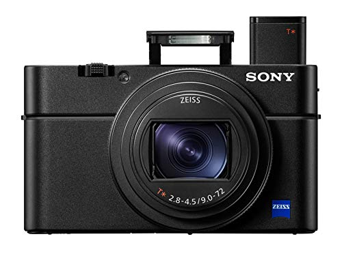 Sony RX100 VI 20.1 MP premium compact digital camera with 1-inch sensor, ZEISS zoom lens from 24 to 200 mm and EVF OLED pop-up