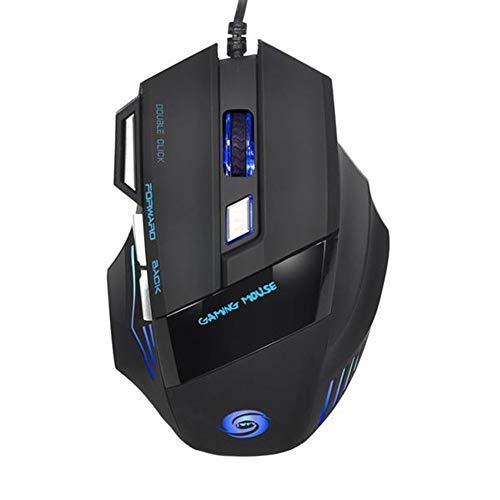 Shuixiang gaming mouse with fantastic USB 2.0 wired alternating light 5500 DPI DPI Adjustable 7 programmable buttons Cutting Edge Ambidextrous ...
