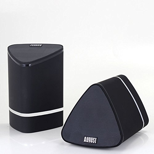 August MS625 - Dual portable Bluetooth speakers - Wireless stereo speakers for TVs, laptops, tablets, smartphones