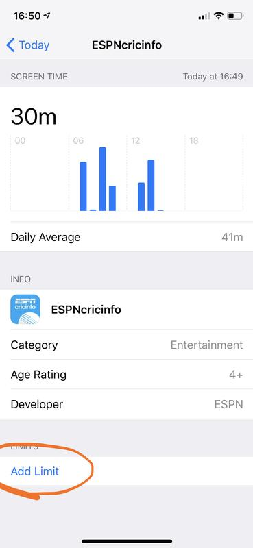 Use screen time to restrict use of iPhone and iPad apps: app limit