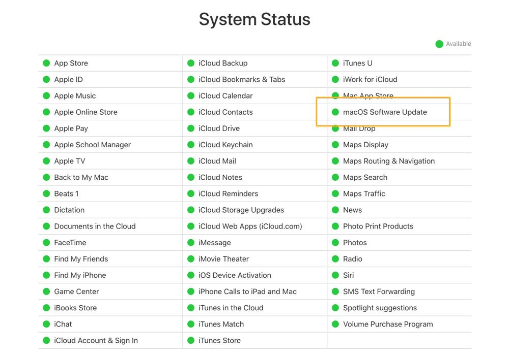 Fix a Mac that does not complete a macOS update: System status