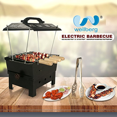 Electric barbecue and Wellberg charcoal (2 in 1 barbecue)
