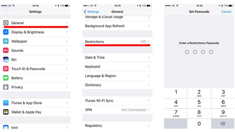 how to disable in app purchases on iphone