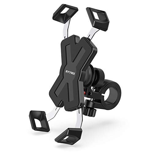 Bicycle phone holder - RYYMX Bicycle phone holder: Adjustable phone holder for 360 ° rotation motorcycle for iPhone Xs Max XR ...