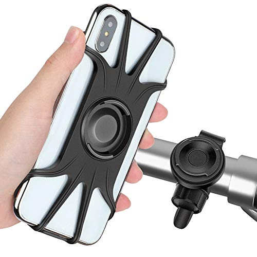 Detachable Cell Phone Holder, Rotating Cell Phone Holder and 360 ° Bicycle Handlebar Universal Cell Phone Holder fit for iPhone Xs Max XR ...