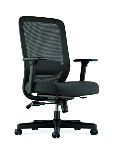 HON Exposure Mesh Task Chair - Computer Chair with 2-Way Adjustable Arms for Office Desk, Black (HVL721)