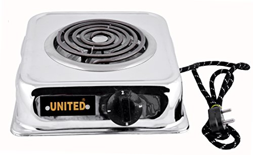 United 2000-Watt With Wire G Coil Induction Cooktop / Induction Cookers / Handy G Coil Cooktop, Silver