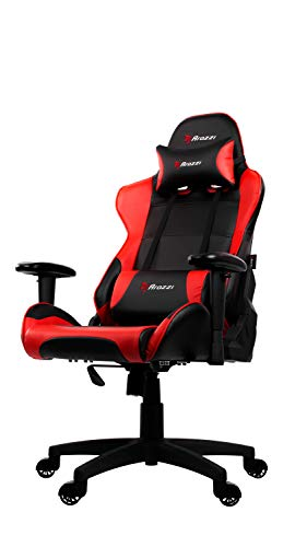 Arozzi Verona V2 Advanced Racing Style gaming chair with high backrest, reclining, swivel chair, tilt, rocker and seat height adjustment, lumbar cushions and headrests included, red