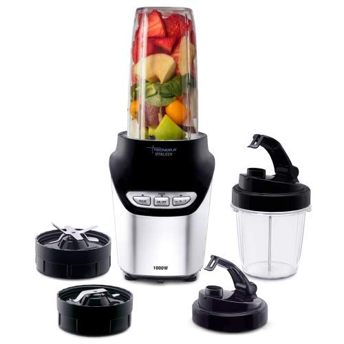 Nutri TECNORA Tritan 1000W blender with nutrient extractor, Intellisense and electric speed control (black)