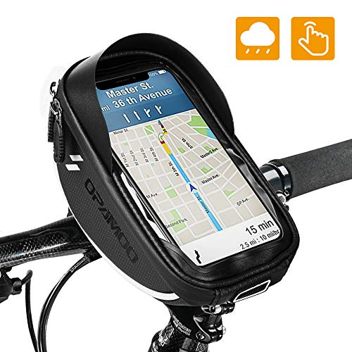 Mounting Bags for Bicycle Phone for Bicycle - Waterproof Front Frame Top Tube Handlebar Bags with Touch Screen Phone Holder ...