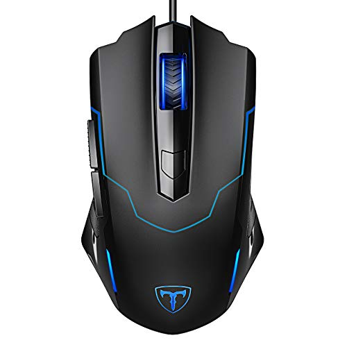 Wired Gaming Mouse, Pictek 6 Buttons Ergonomic Optical Mouse USB USB PC Computer Gaming Mice [3200 DPI Adjustable] [Auto Breathing Light]...