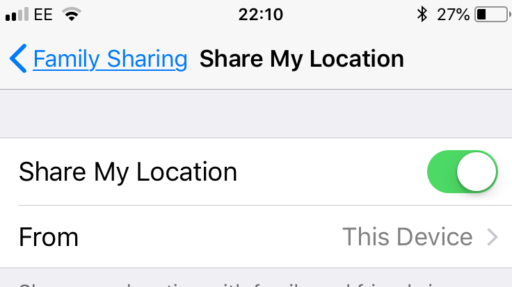 How to share your location on your iPhone to: Family
