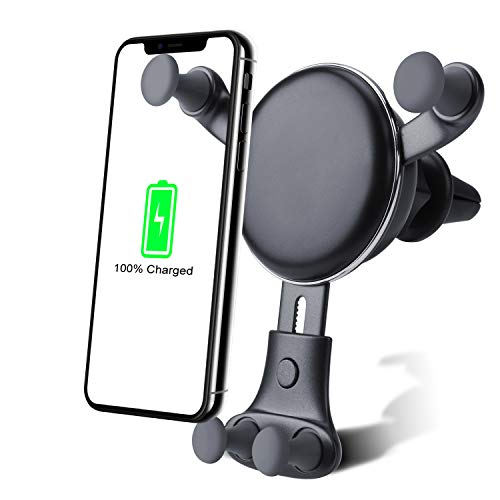 Wireless car charger Adjustable mounting bracket - Gravity System - Fast Charging Compatible with iPhone Xs Max / XS / X / XR / 8 Plus / 8 Samsung Galaxy Fold / ...