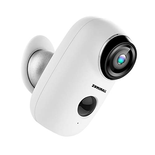 Battery-powered rechargeable wireless WiFi camera, Home security camera, Night vision, Indoor / Outdoor, 1080p video with motion detection, Bidirectional audio, ...
