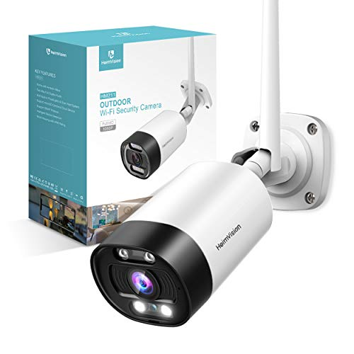 Wireless for HeimVision HM211 external security camera, waterproof 1080P WiFi surveillance camera with projector, night vision, siren alarm, bidirectional audio, movement ...
