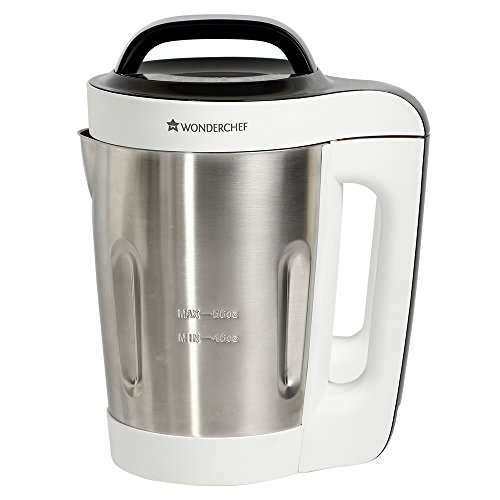 Automatic Wonderchef Soup Machine 800 Watt (White and Steel)