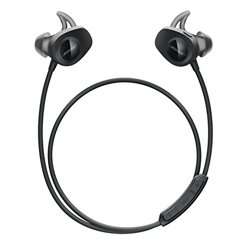 Bose SoundSport, wireless headphones, (sweatproof Bluetooth headphones for running and sports), black