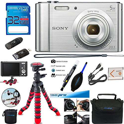Sony Cyber-Shot DSC-W800 Digital Camera (Silver) + Deal-Expo Accessory Pack