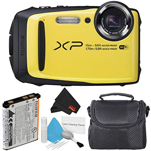 Fujifilm FinePix XP90 Yellow Waterproof Digital Camera Package with Carrying Case (International Version)